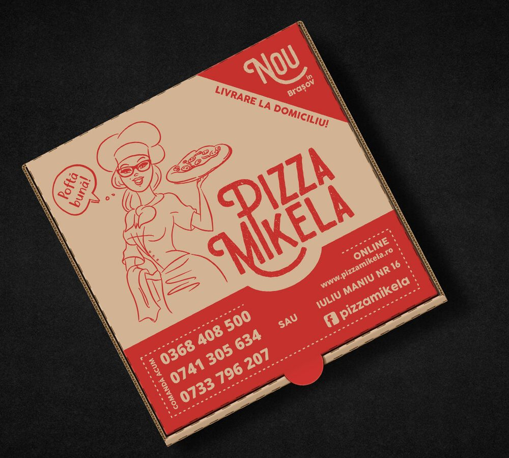 Food photography, Logo & Packaging Design \ Pizza Mikela